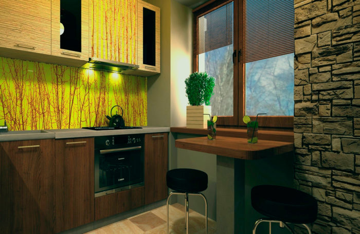 Проект-дизайн інтер'єру та 3d візуалізація кухні в Трускавці