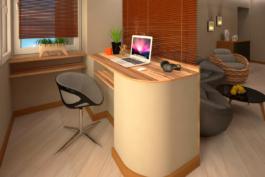 Проект-дизайн інтер'єру та 3d візуалізація двохкімнатної квартири в Трускавці від