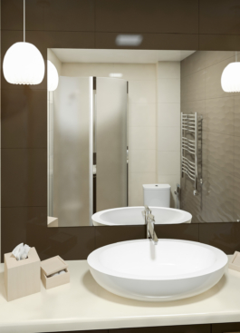 дизайн ванної - дзеркало
