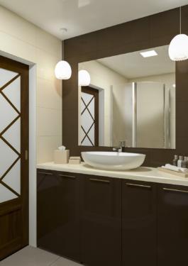 дизайн ванної кімнати - сучасна класика