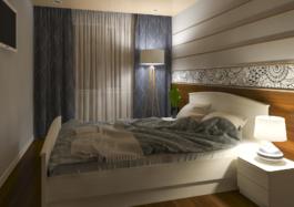 дизайн інтер'єру Дрогобич - спальня з художнім розписом