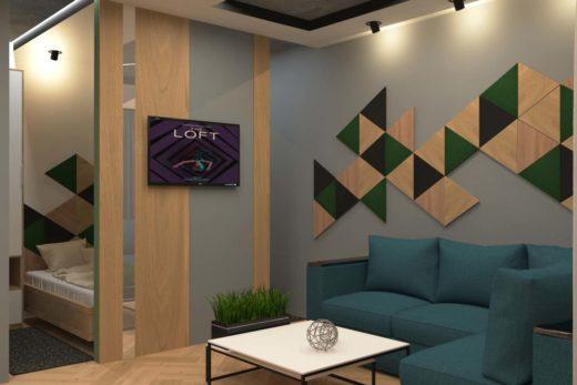 Сучасний дизайн інтер'єру - квартира в стилі Лофт